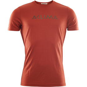 Aclima LightWool Logo T-Shirt Men red ochre
